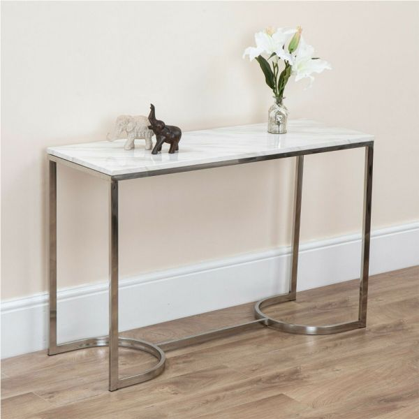Console Table Black and White Marble - 2 Colours