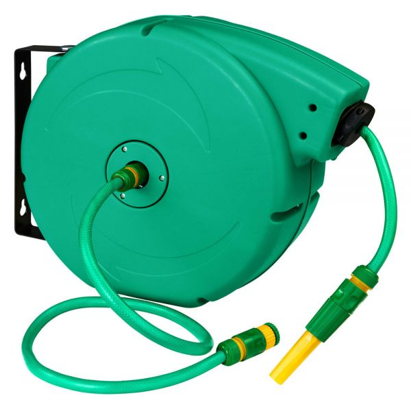 Hose Reel Garden Watering Pipe With Nozzel - 20m
