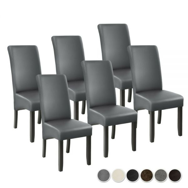 Synthetic Leather Dining Chairs Various Colours - Set of 6
