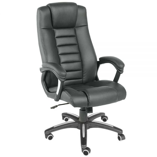 High Back Executive Office Swivel Chair Extra Padded - Black