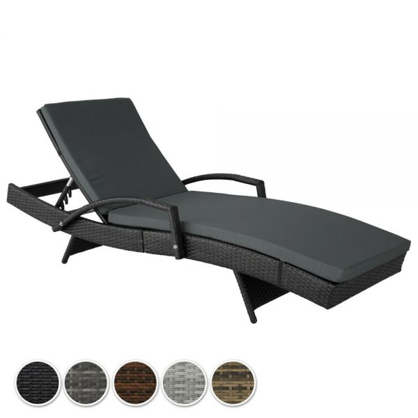 Stylish Adjustable Aluminium  Rattan Sun Lounger - 5 Colours