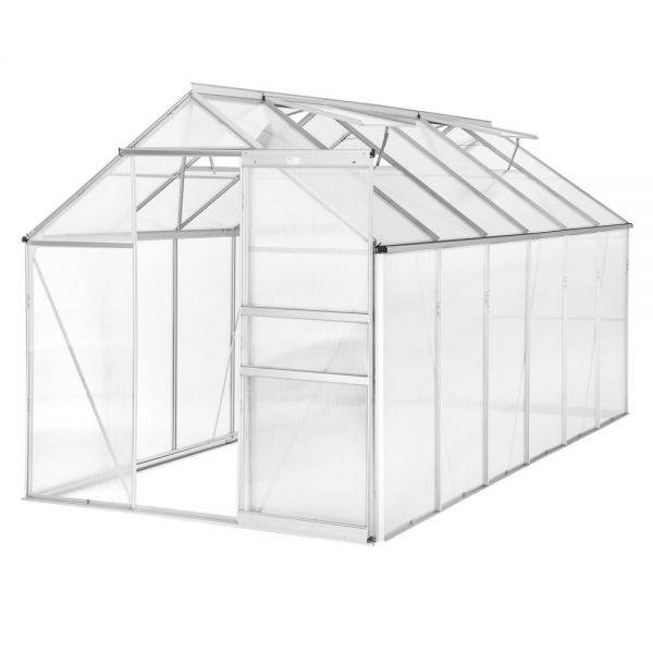 Aluminium Greenhouse Polycarbonate Without Foundation -11.13m³