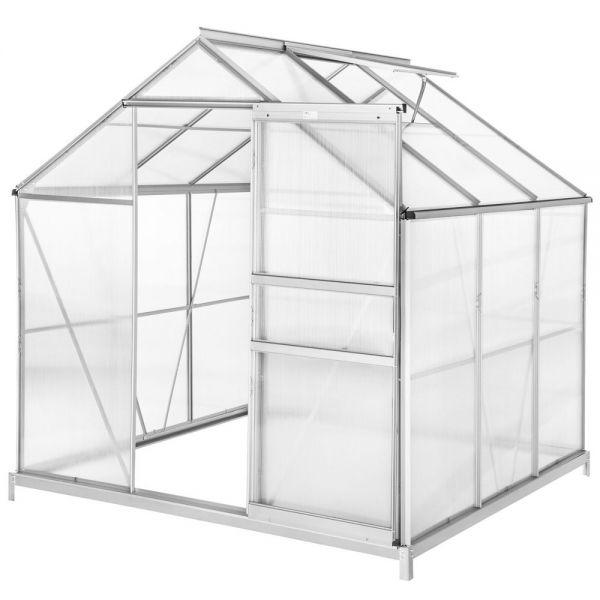 Greenhouse Aluminium Polycarbonate With Foundation - 5.85 m³