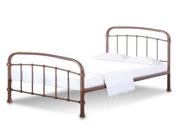 LPD Halston Copper Metal Bed Frame - Single, Double or King