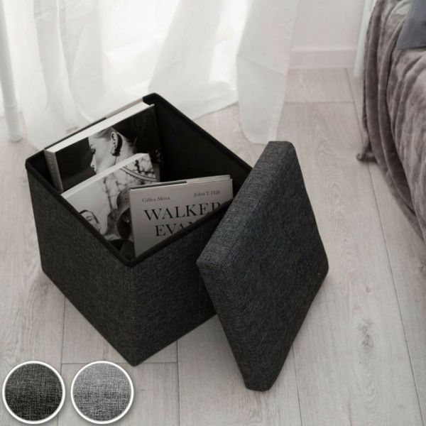 Ottoman Foldable Storage Seat - 2 Colours