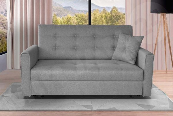 Viva Grey Fabric 2-Seat Storage Sofa Bed