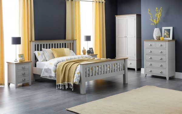 Julian Bowen Richmond Grey Bed - Double or King