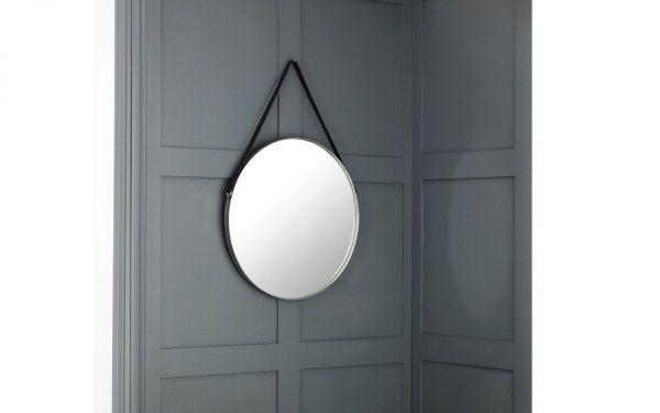 Julian Bowen Opera Round Pewter Mirror