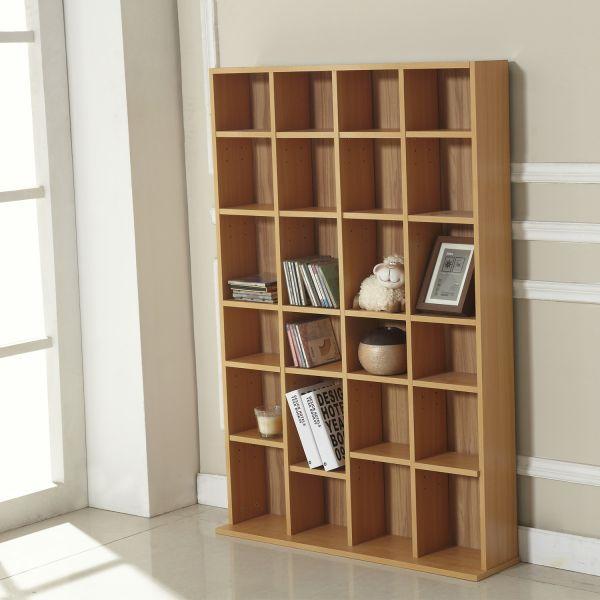 Homcom Adjustable Wooden Storage Shelving Rack - Beech or White