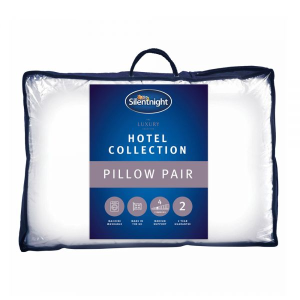 Silentnight Luxury  Hotel Collection Hypoallergenic Pillow 2 x Pack