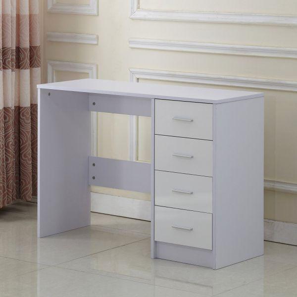 HOMCOM 4-Drawer High Gloss Vanity Dressing Table Desk