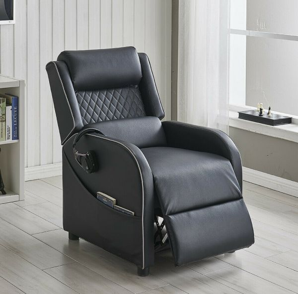 Gaming Recliner Armchair Leather Fabric - 4 Colours
