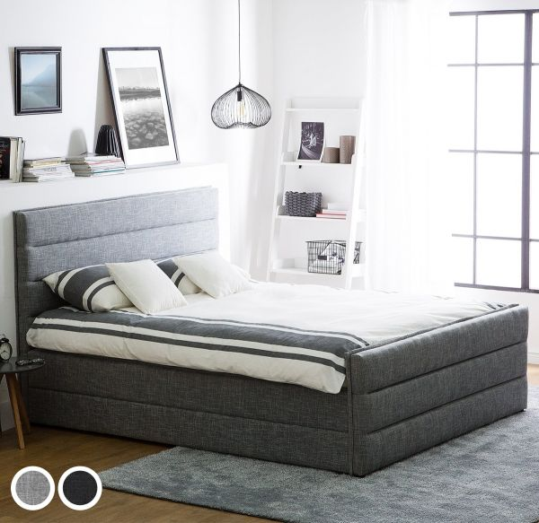 Vabone Fabric Bed - Light Grey & Dark Grey
