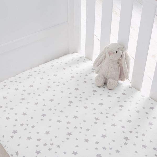 Silentnight Jersey Cot Bed Fitted Sheets - 8 Colours