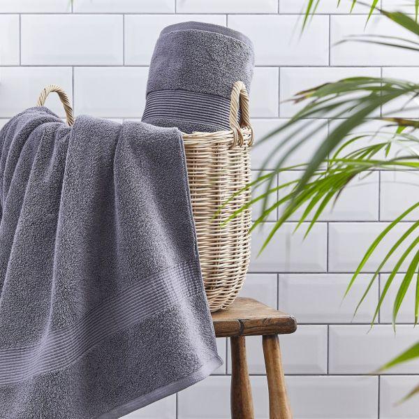 Silentnight Luxury Cotton Towel Pair Charcoal - 3 Sizes