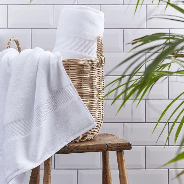 Silentnight Cotton Towel Pair White - 3 Sizes