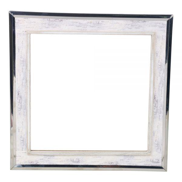 Stylish Wall Mounted White Shabby Square Mirror