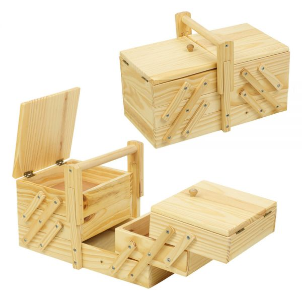 Cantilever Vintage Wooden Style Storage Box
