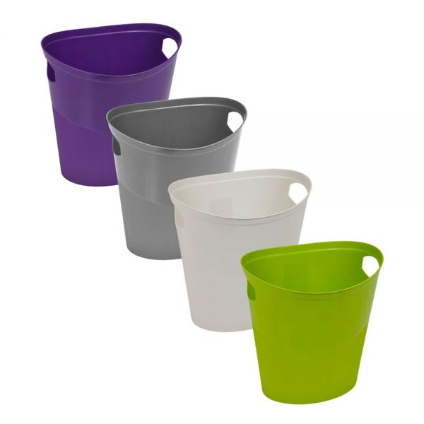 10L Plastic Flexi Rubbish Bin - 4 Colours