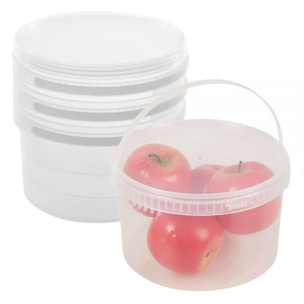 Evident Lid Handle Food Containers - Plastic