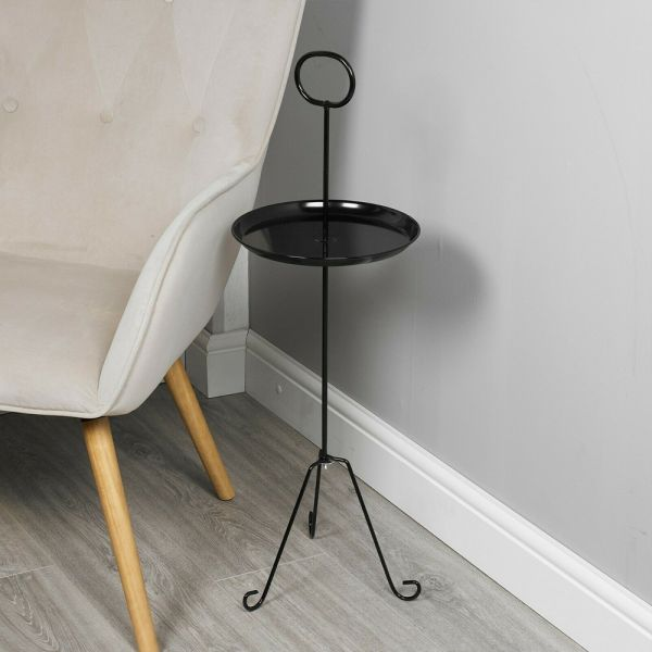 Round Metal Side End Table - 2 Colours