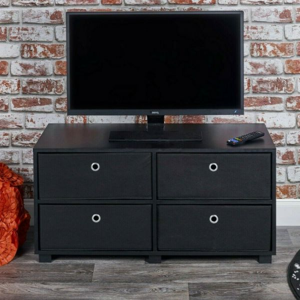 TV Unit Wooden Cabinet Storage Stand Various Colours - 2to4 Drawers