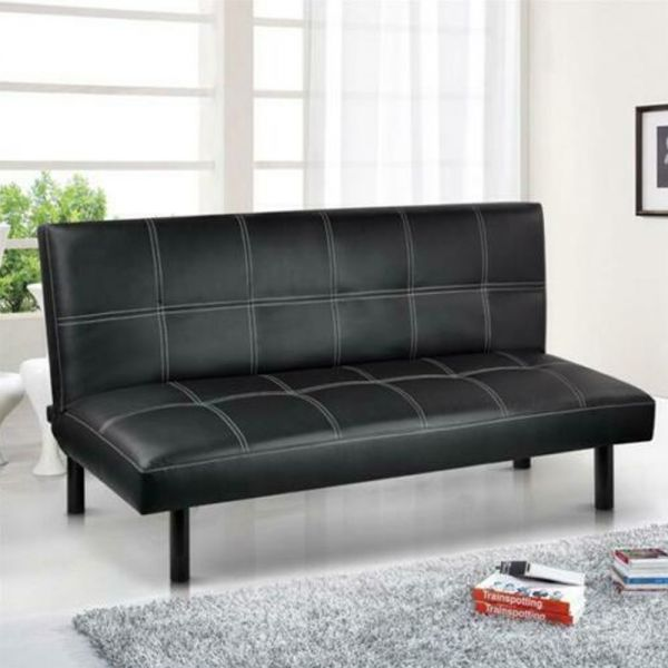 Modern Fabric 3 Seater Click-Clack Sofa Bed - 4 Colours