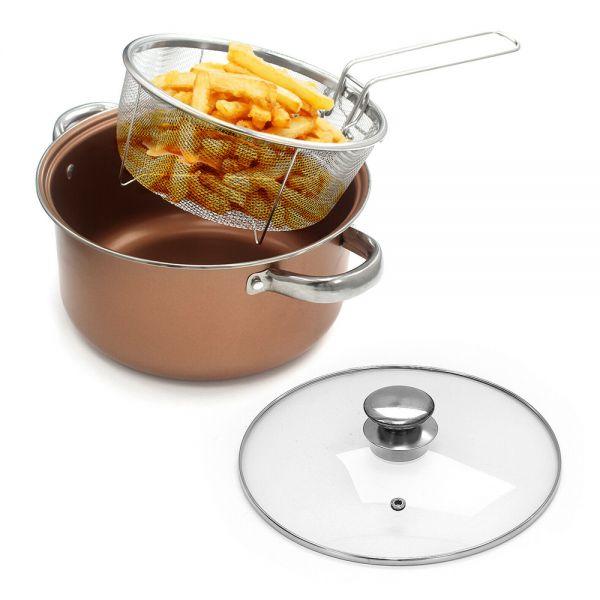 Elegant Deep Fry Pan 4in1