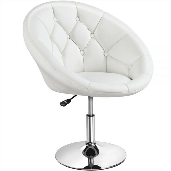 Modern PU Leather Round Tub Chair - 3 Colours
