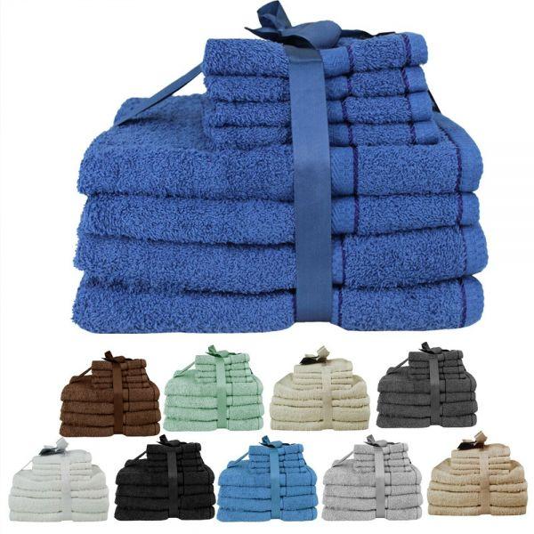Luxury Soft Cotton 8 Piece Towel Bale Set - 10 Colours