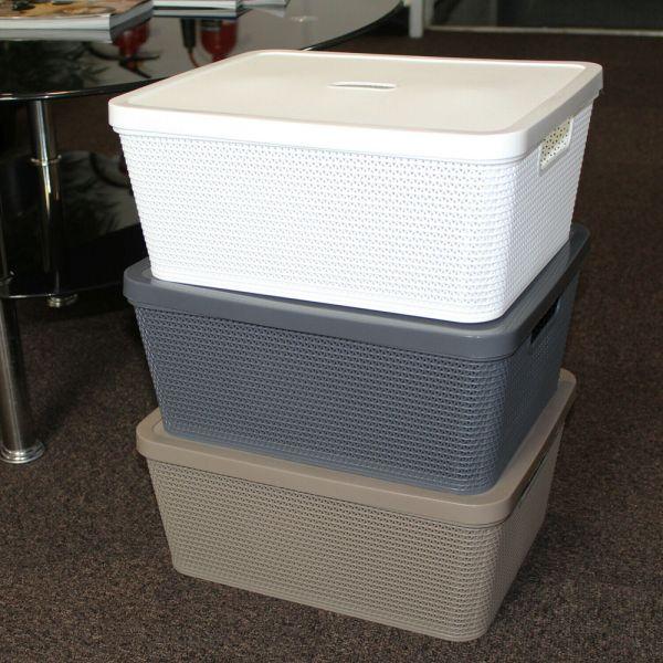 Rattan Plastic Toiletry Basket Lid - 3 Colours