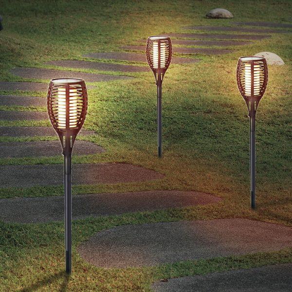 Solar Garden Lamp Post Light 30 LED - 1to4 Lights
