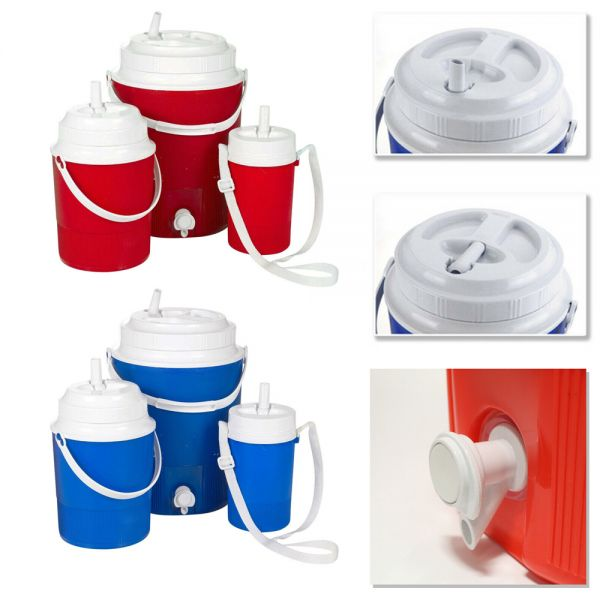 Elegant Red Blue Cooler Box - 3 Sizes