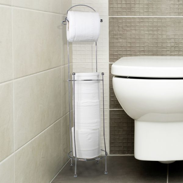 Stylish Stand Toilet Paper Holder - 4 Roll