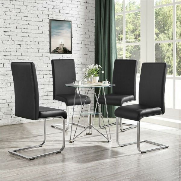 Faux Leather Padded Dining Chair 2pcs - 3 Colours
