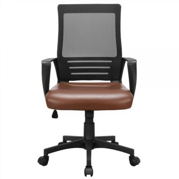 PU Leather Padded Ergonomic Swivel Office Chair - 4 Colours