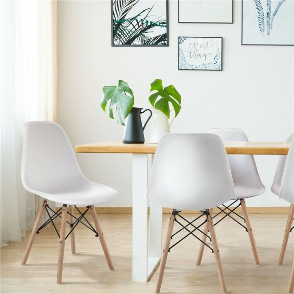 Modern Retro Style 4pcs Dining Chairs - 3 Colours