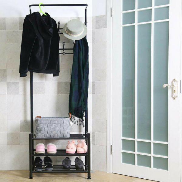 Elegant Metal Coat Hanger Rack - Black