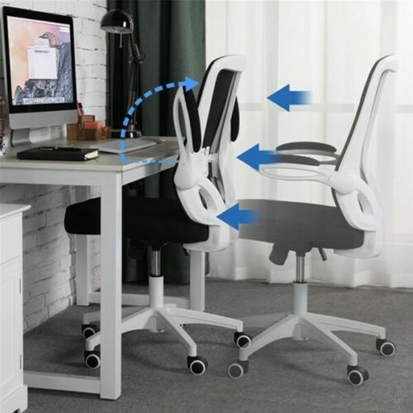 Executive Adjustable Swivel Chair - White
