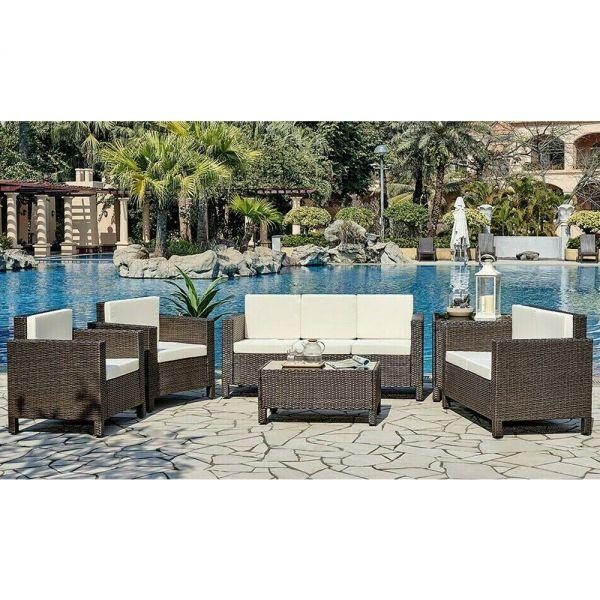 Stylish Rattan Garden Lounge Set - 2 Colours