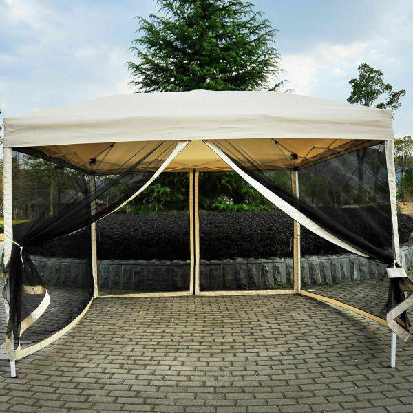 Gazebo mesh Pop Up Tent 3x3m - Beige