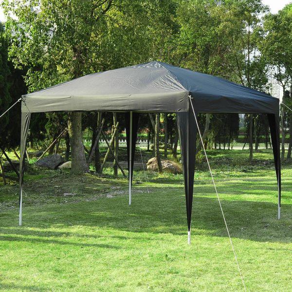 Modern Garden Gazebo Party Tent  3/3m - Black
