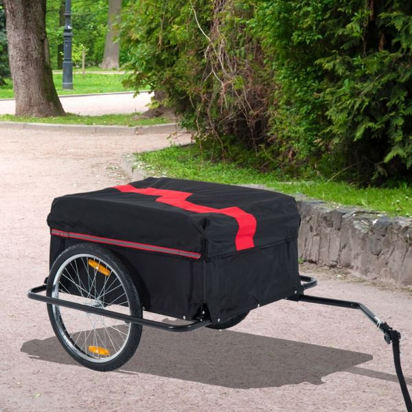 Foldable Cargo Storage Trolley Trailer With Removable Cover