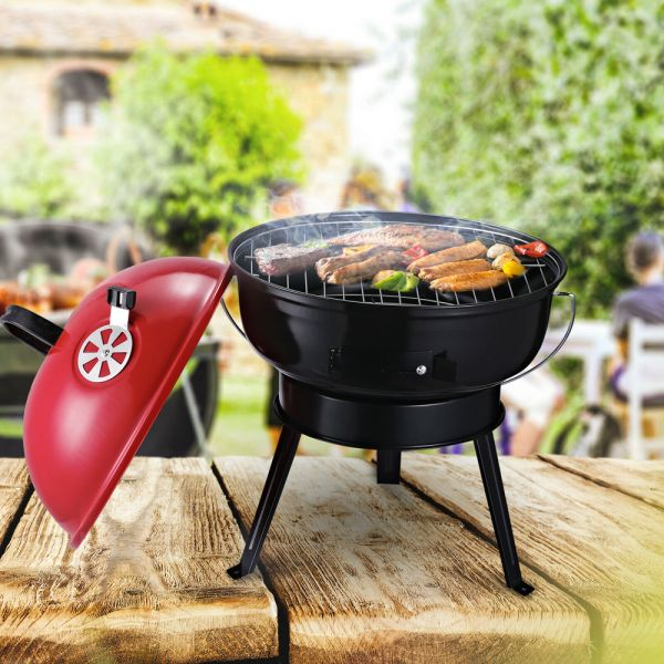 Portable Charcoal Barbeque Grill Anti-Scald Handle With Air Vents