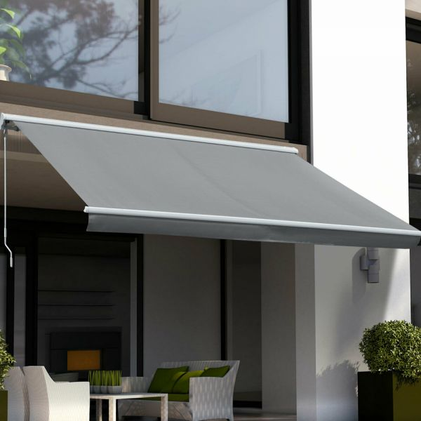 Electric Retractable Garden Awning 3m - Grey
