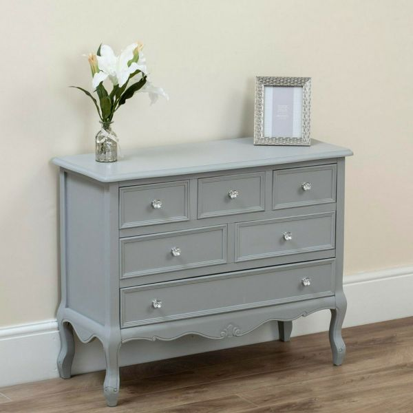 Rustic Chic Shabby Wooden 7 Drawers Chest Of Drawers - 2 Colours