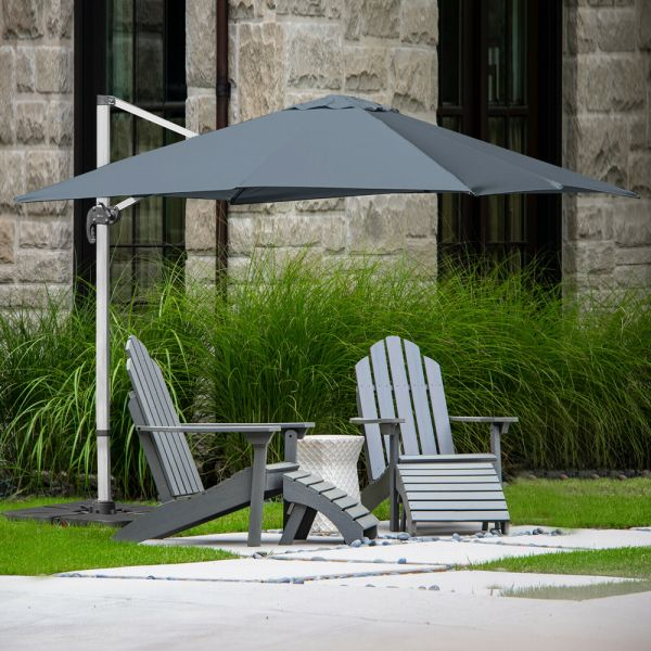 Roma Cantilever Square Parasol Grey Colour - 3M