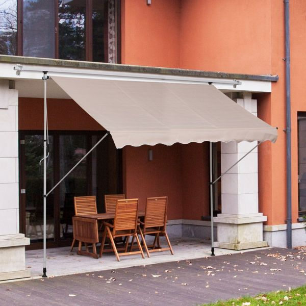 Retractable Awning Canopy Beige Colour -3M