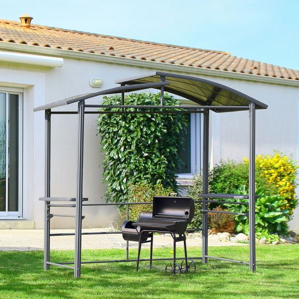 2 Shelves Roof Top BBQ Garden Canopy With Interlaced
