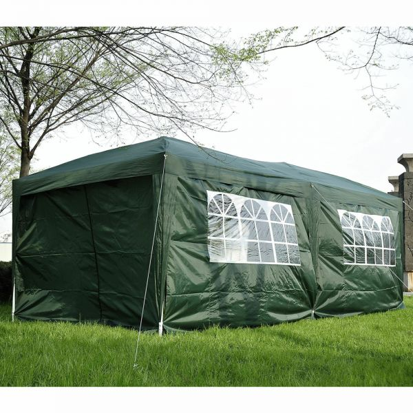 Marquee Pop Up Party Tent With Storage Bag - 6Mx3M